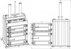 Пресс пакетировочный гидравлический вертикальный ПГП-Б